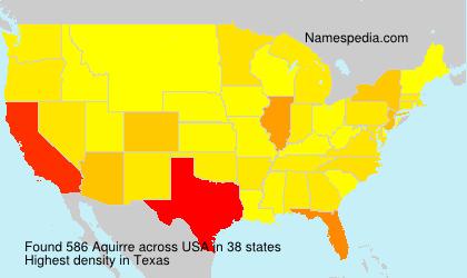 Familiennamen Aquirre - USA