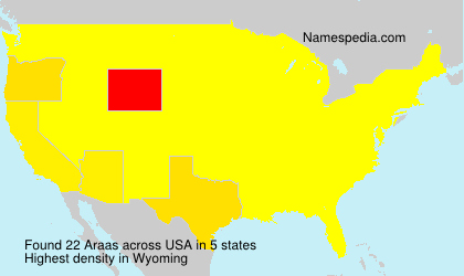 Surname Araas in USA