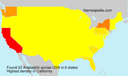 Surname Arabadzhi in USA