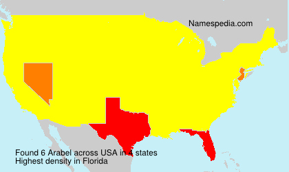 Surname Arabel in USA