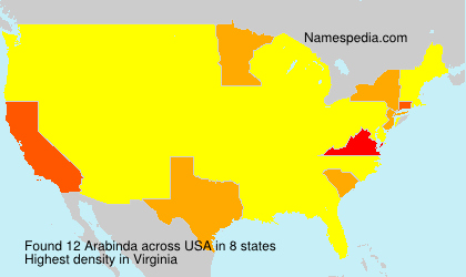 Surname Arabinda in USA