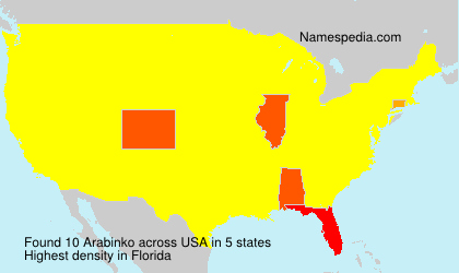Surname Arabinko in USA