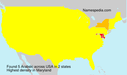 Surname Arabski in USA
