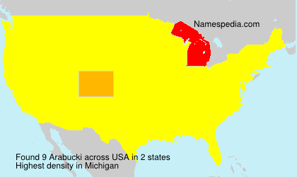 Surname Arabucki in USA