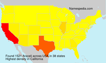 Surname Araceli in USA