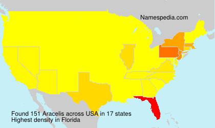 Surname Aracelis in USA