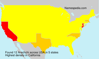 Surname Arachchi in USA