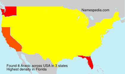 Surname Aracic in USA