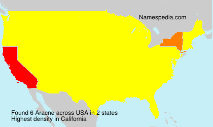 Surname Aracne in USA