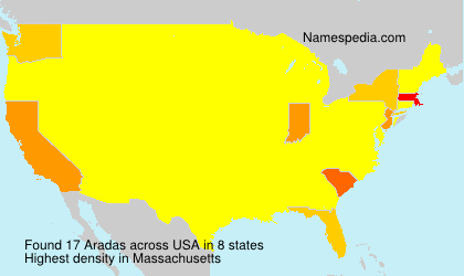 Surname Aradas in USA