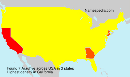 Surname Aradhye in USA