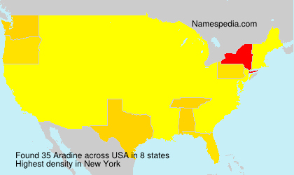Surname Aradine in USA