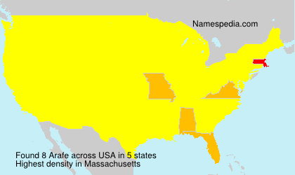 Surname Arafe in USA