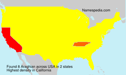 Surname Araghian in USA