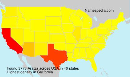 Surname Araiza in USA
