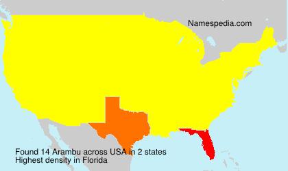 Surname Arambu in USA