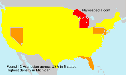 Surname Aranosian in USA