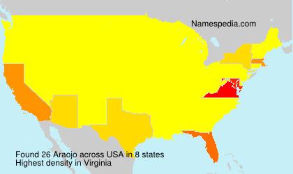 Surname Araojo in USA