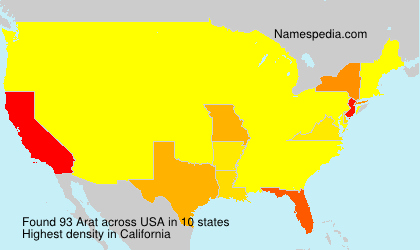 Surname Arat in USA