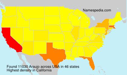 Familiennamen Araujo - USA