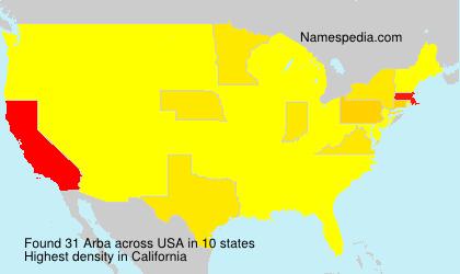Surname Arba in USA
