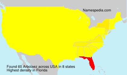 Familiennamen Arbolaez - USA