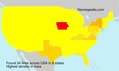 Surname Arbs in USA