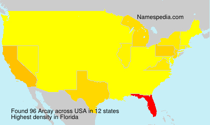 Surname Arcay in USA