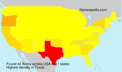 Surname Archa in USA