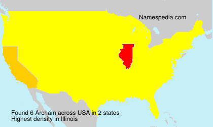 Surname Archam in USA