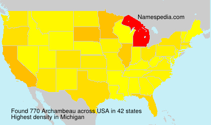 Familiennamen Archambeau - USA