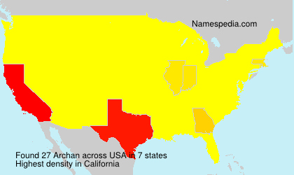 Surname Archan in USA