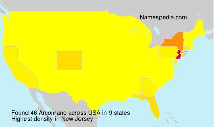 Surname Arcomano in USA