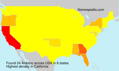 Surname Ardiano in USA