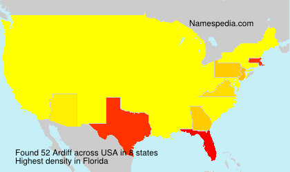 Surname Ardiff in USA