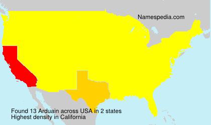 Familiennamen Arduain - USA