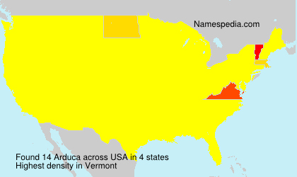 Surname Arduca in USA