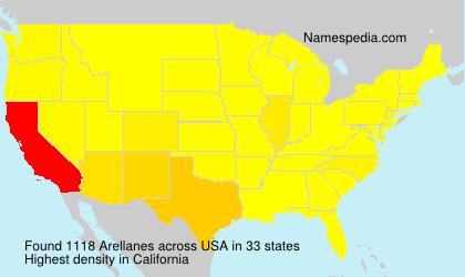Surname Arellanes in USA