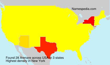 Surname Arenare in USA