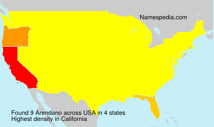 Surname Arendano in USA