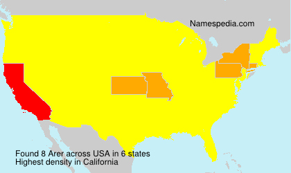 Surname Arer in USA