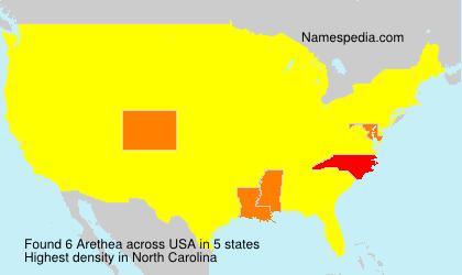 Surname Arethea in USA