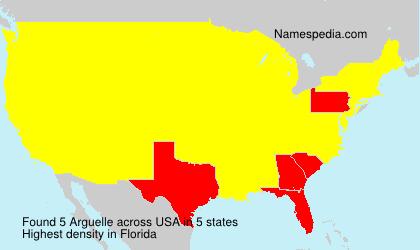 Familiennamen Arguelle - USA