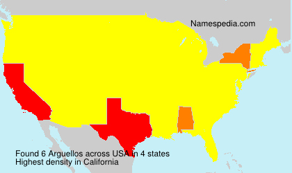 Surname Arguellos in USA