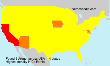 Surname Arguet in USA