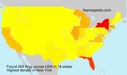 Surname Argy in USA