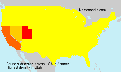 Surname Ariazand in USA