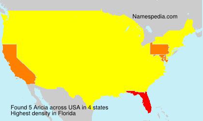 Familiennamen Aricia - USA
