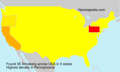 Surname Arinsberg in USA
