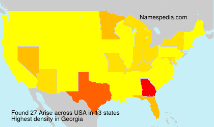 Surname Arise in USA